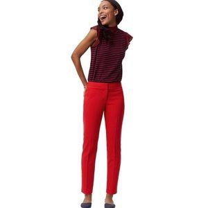 Loft | Red Julie Pencil Pants